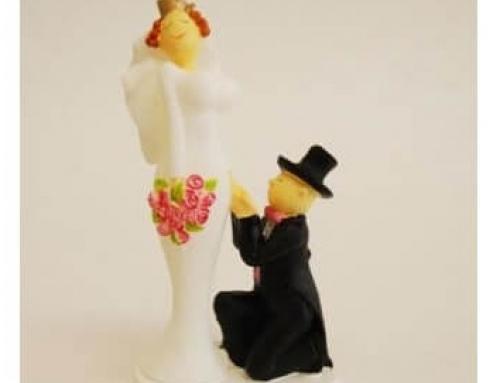 Knielen bij huwelijksaanzoek