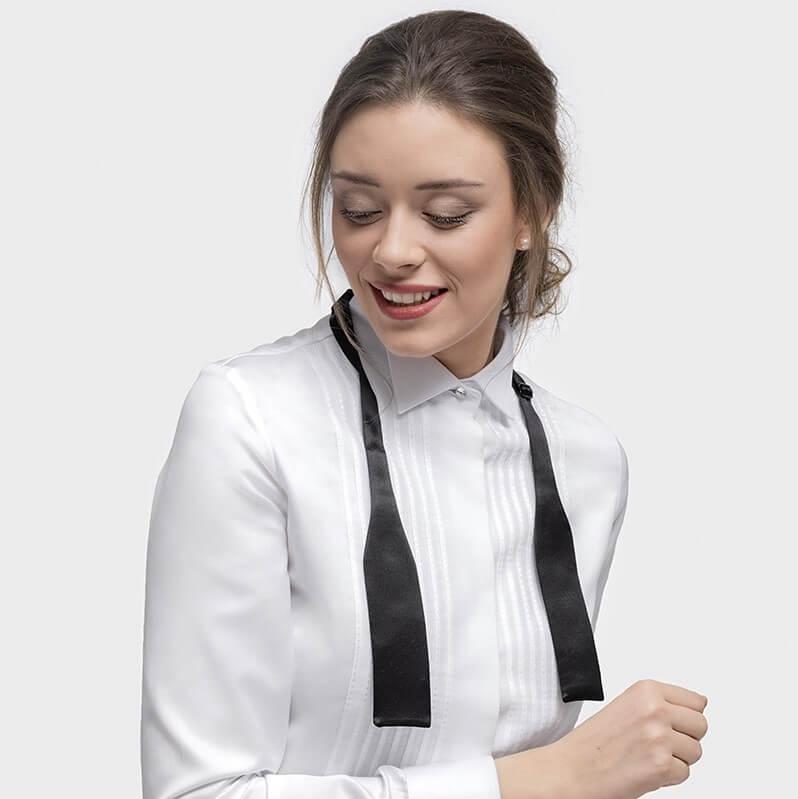 dames maatblouse vrouwelijke smoking blouse