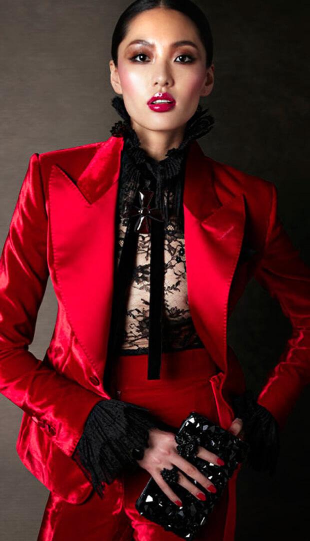 rood fluwelen broek