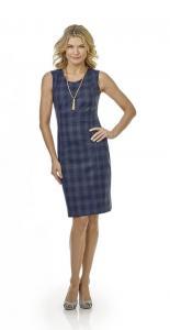 12 Zakelijk vrouwelijk jurkje gemaakt van Holland and Sherry ruit