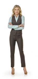 31 Pantalon met gilet gemaakt van Holand and Sherry wol met cashmire in bruine ruit