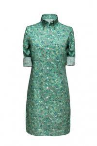 4020 Kort zomers blouse jurkje gemaakt van katoen met groene print