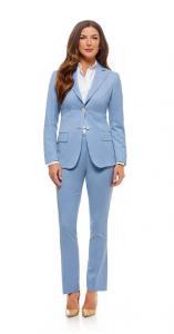 60 Maatpak met zakelijk en vrouwelijke snit gemaakt van Holland and Sherry licht blauwe niet kreukende cool wool (1)
